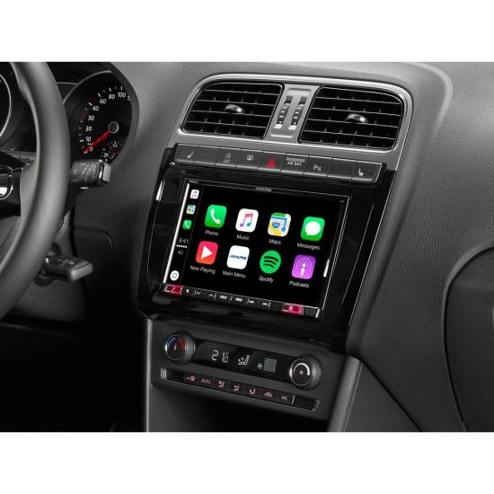 ALPINE KIT-X802POLO - 8-colių multimedijos instaliavimo komplektas Volkswagen Polo 5 / GTI (6C) automobiliams