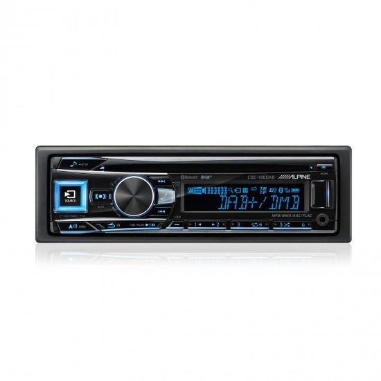 ALPINE CDE-196DAB - Radijo imtuvas su DAB, CD/USB ir pažangiu Bluetooth