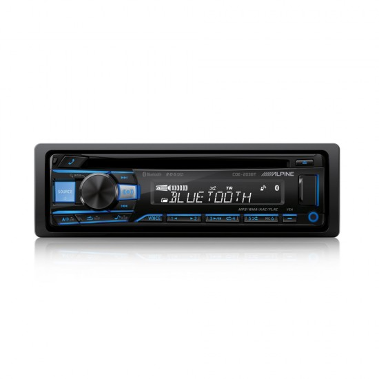 ALPINE CDE-203BT - Radijo imtuvas su CD/USB ir Bluetooth