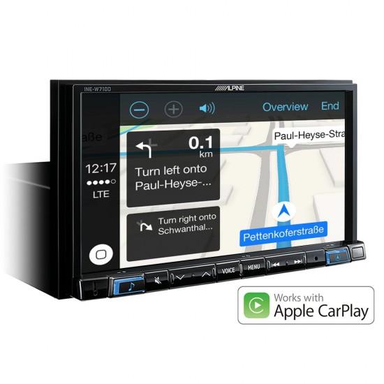 """ALPINE INE-W710DC - 7"""" navigacijos sistema su TomTom žemėlapiais"""