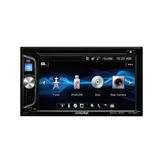 ALPINE IVE-W560BT - 2-DIN multimedija su radiju, Bluetooth, USB ir DVD/CD grotuvu