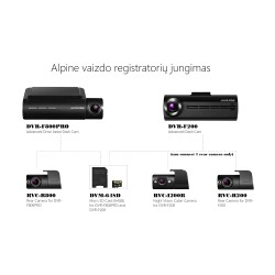 ALPINE RVC-R200 - video registratoriaus galinė kamera