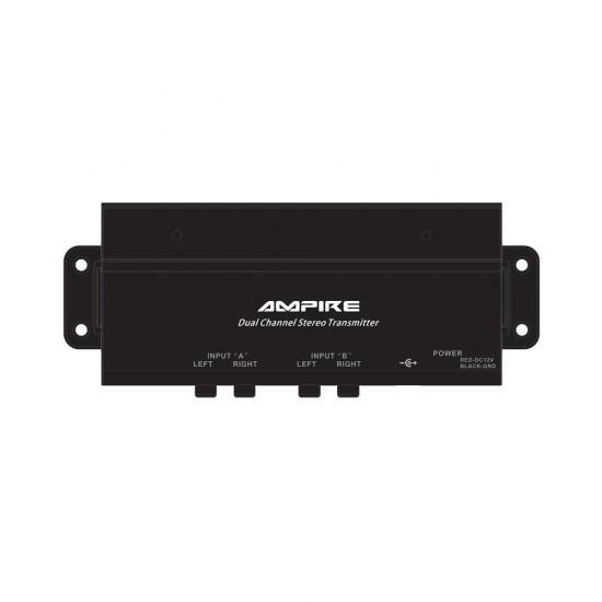 AMPIRE HPX401 - 2 kanalų radijo siųstuvas skirtas HP401 ausinėms